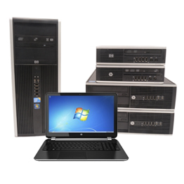 HP Refurbished Laptops & Desktop Computers + 1 Yr Warranty