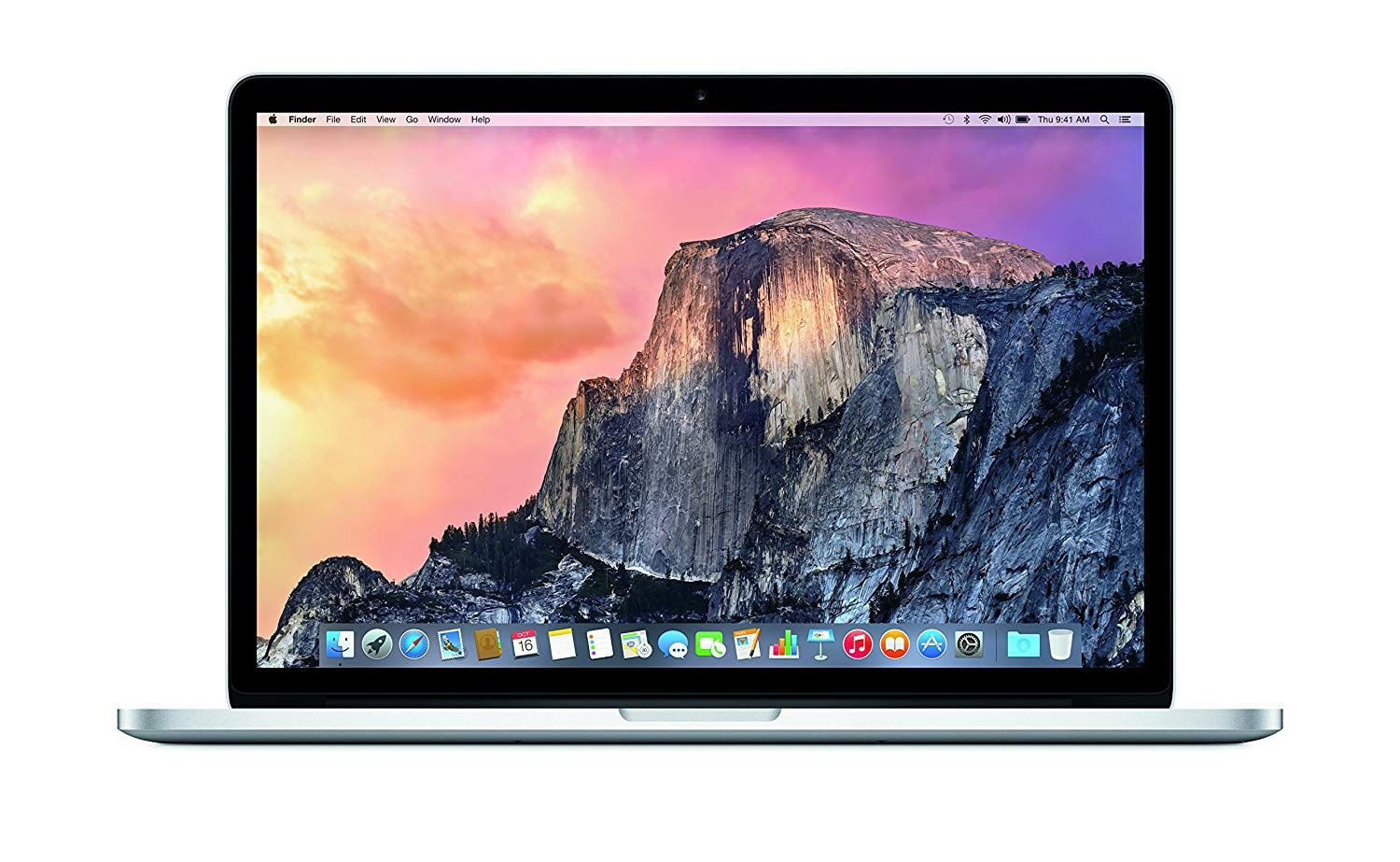 Apple Macbook Pro with Retina 15 Inch Display I7 Laptop front view